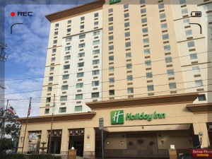 """Unser Hotel """"Holiday Inn am LAX"""" in Los Angeles."""