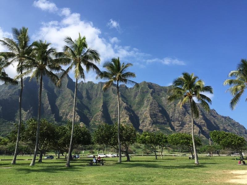Diese Berge sind Ausläufer der inaktiven Vulkane von Oah'u.