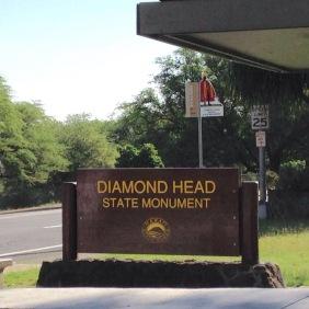 Wir entern das Diamond Head State Monument.