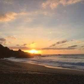 Sonnenuntergang am Waimea Beach Park