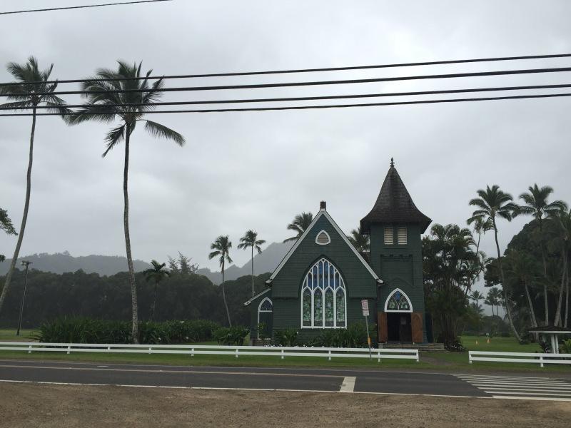 Wai'oli Hui'ia Church - Die älteste Kirche auf Kauai. Auch ein beliebtes Postkartenmotiv.